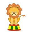 circus animal - lion vector image