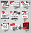 collection of black friday sale discount and vector image vector image