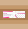 color web banner with diagonal element vector image vector image