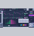 cryptocurrency exchange terminal interface vector image vector image