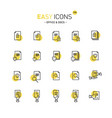 easy icons 17d docs vector image vector image