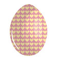 egg painted happy easter with hearts pattern vector image