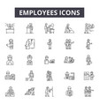 employees line icons signs set outline vector image vector image