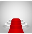 Empty stage podium vector image