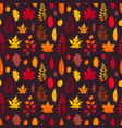 falling leaves seamless pattern vector image vector image