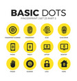 fingerprint flat icons set vector image vector image