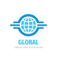 global travel concept logo design business vector image