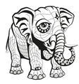 Hand drawn ornate elephant vector image