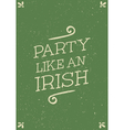 hand drawn st patricks day greeting card design vector image