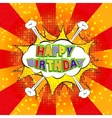 Happy Birthday comics vector image