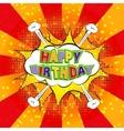 Happy Birthday comics vector image vector image