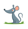 happy cartoon mouse vector image