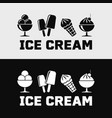 ice cream and popsicle icons vector image vector image