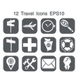 Icons grey android1 vector image vector image