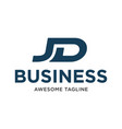 initial letter jd business logo inspiration in vector image