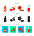 isolated object vegetable and delicious icon vector image