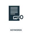 keywords icon line style icon design ui vector image vector image