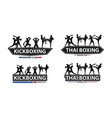 kickboxing with thai boxing action on flat big vector image