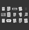 leaflet icon set grey vector image