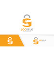 lock and hands logo combination safe and vector image