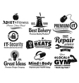 Logo Label Insignia And Icon Set vector image vector image