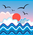 marine graphic landscape vector image vector image