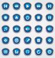 Media button blue vector image vector image