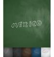 MEXICO icon Hand drawn vector image