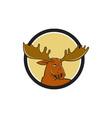 Moose Head Circle Cartoon vector image vector image