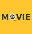 movie reel icon i love cinema icon word movie vector image