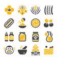 mustard icon set vector image