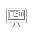 online interior design line icon concept online vector image