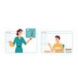 online studies in classroom remote education vector image