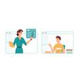 online studies in classroom remote education vector image vector image