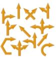 Orange Arrows vector image vector image
