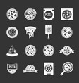 pizza icons set grey vector image vector image