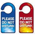 please do not disturb sign set vector image vector image