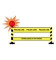 Police traffic stop cartoon vector image vector image