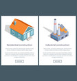 residential and industrial web vector image vector image