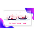 romantic tour in italy love venice loving couples vector image vector image