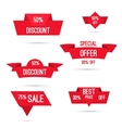 Set tags with ribbons and labels vector image vector image