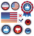 set with voting and election design elements vector image