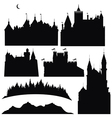 Silhouettes of castles and elements for design vector | Price: 1 Credit (USD $1)