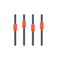 sound mixer icon slider channel vector image vector image