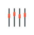 sound mixer icon slider sound channel vector image vector image