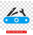 Swiss Knife Eps Icon vector image