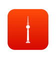 tower icon digital red vector image