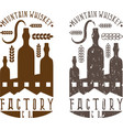 vintage labels set of whiskey factory vector image vector image