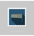 Volleyball net beach sport flat stamp Summer vector image vector image