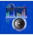 musical design sound waves an equalizer vector image
